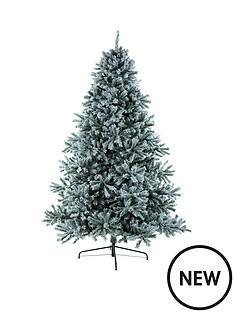 85ftampnbspheavy-flock-snowdoniaampnbspfir-christmas-tree