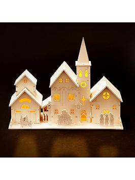 wooden-led-church-scene