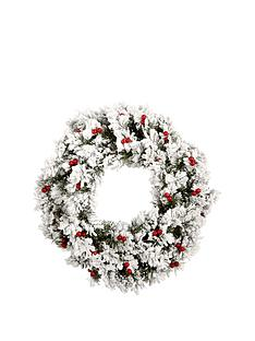 bavarian-pine-wreath-with-snow-and-berries