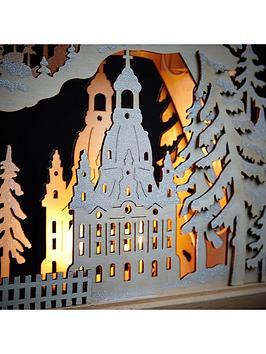 Wooden Candle Bridge Christmas Decoration
