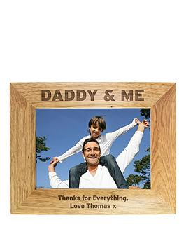 Very Personalised Daddy & Me Wooden Photo Frame In 3 Sizes Picture