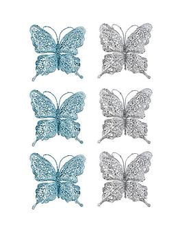 silver-and-blue-glitter-butterfly-decorations-ndash-set-of-6