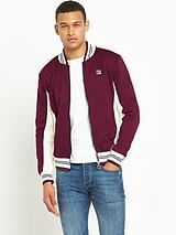Settanta Mens Track Top - Burgundy