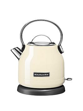 KitchenAid  Kitchenaid 5Kek1222Bac 1.25-Litre Dome Kettle - Almond Cream