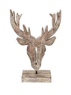 wooden-stag-head-sculpture