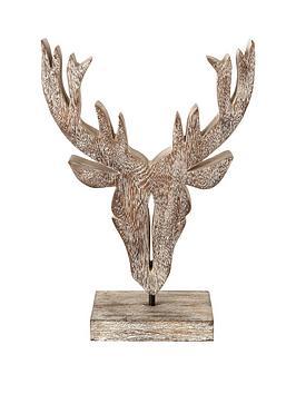 wooden-stag-head-sculpture