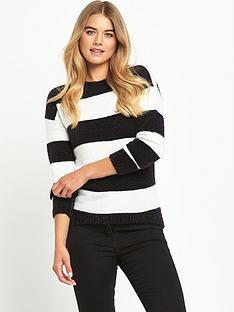 south-fluffy-block-stripe-jumper