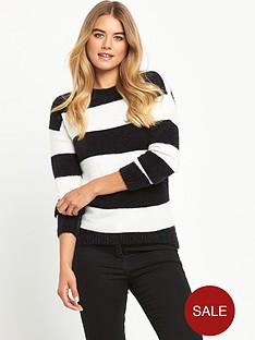 south-fluffy-block-stripe-jumper