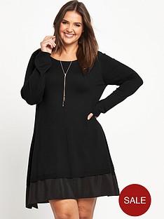 so-fabulous-chiffon-hem-knitted-swing-dress