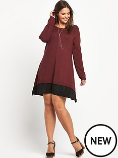 so-fabulous-chiffon-hem-knitted-swing-dress