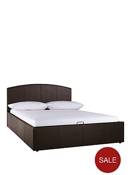 Marston Faux Leather Lift Up Storage Bed With Mattress Options Buy