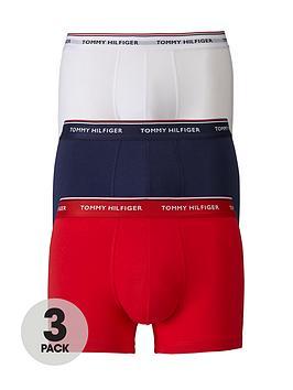 tommy-hilfiger-3-pack-premium-essentials-trunks-redwhitenavy