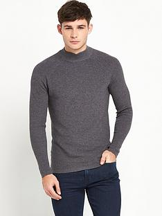 selected-selected-rib-high-neck-jumper