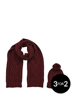 mens-2pc-chunky-knit-hat-and-scarf-set-mulberry
