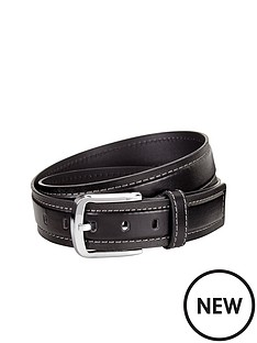 mens-stitch-detail-textured-belt-black