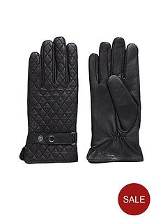 mens-quilted-leather-gloves