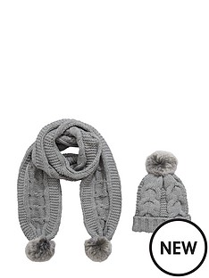 girls-2-piece-chunky-knit-fur-bobble-set