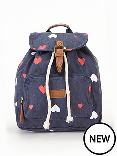 girls-heart-printampnbspbackpack