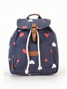 girls-heart-printnbspbackpack