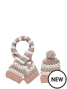 girls-2-pc-diamond-knit-hat-and-scarf-set