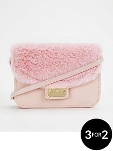 girls-faux-fur-trim-crossbody-bag