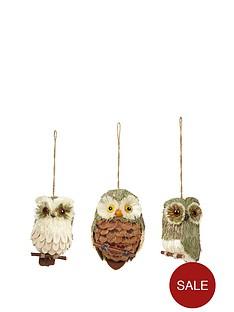 natural-owl-hanging-ornaments-ndash-set-of-3
