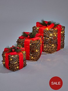 set-of-3-rattan-gift-boxes-with-decorative-bows-and-led-lights