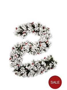 6ftnbspbavarian-pine-garland-with-snow-and-berries