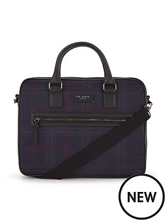ted-baker-printed-check-messenger-bag