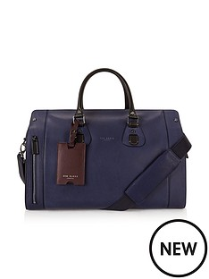 ted-baker-ted-baker-leather-colourblock-holdall