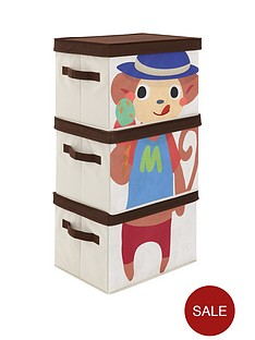 kidspace-ideal-kids-set-of-3-monkey-storage-boxes