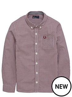 fred-perry-boys-gingham-shirt
