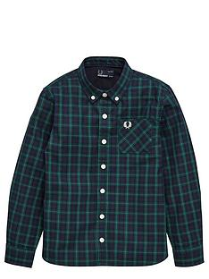 fred-perry-boys-tartan-check-shirt