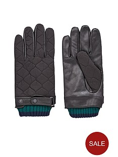 ted-baker-ted-baker-quilted-nylon-and-leather-glove