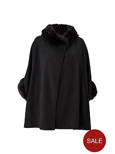 faux-fur-fleece-cape