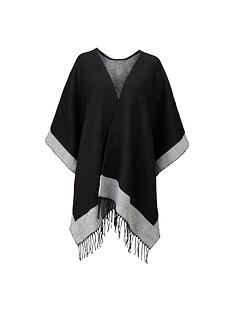 monochrome-stripe-blanket-cape