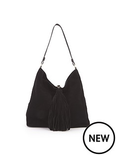 suede-oversized-tassel-slouch-shoulder-bag