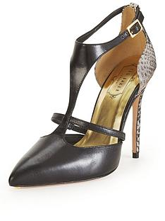 ted-baker-kotaka-black-and-white-snake-strappy-heeled-shoe