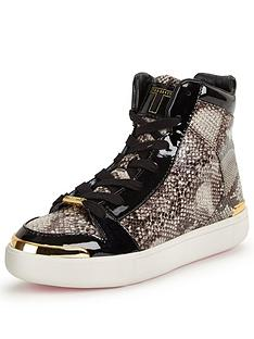 ted-baker-madisn-snake-high-top-trainer