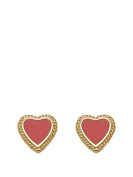 juicy-couture-enamel-heart-earring-set