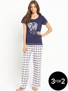 sorbet-bear-check-pyjama
