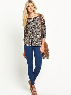 south-south-printed-cut-out-shoulder-jersey-top