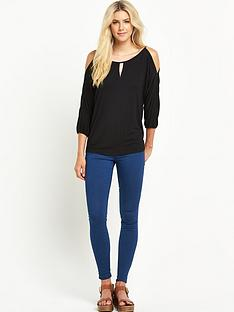 south-cut-out-shoulder-jersey-top