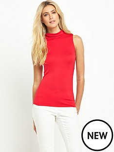 south-turtle-neck-sleeveless-jersey-topnbsp