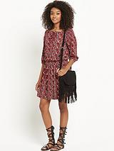 Printed Boho Jersey Dress