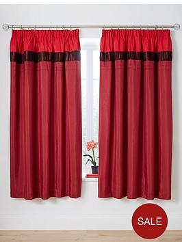velvet-panel-duvet-cover-set-red