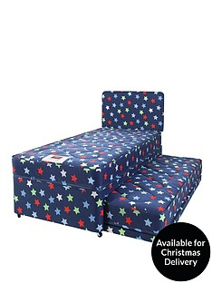 airsprung-kids-stars-amp-butterflies-single-divan-with-trundle-guest-bed