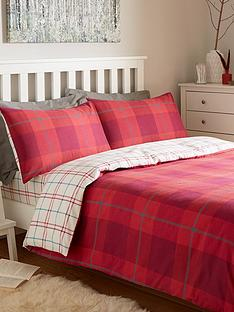 brushed-100-cotton-check-duvet-cover-set