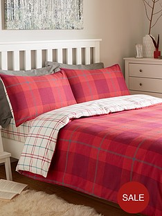 brushed-cotton-check-duvet-cover-set