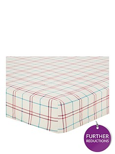 brushed-cotton-check-duvet-cover-set-red